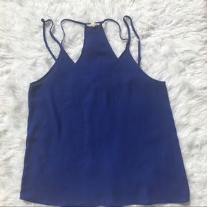 Iris Los Angeles Cobalt Blue Strappy Tank Top